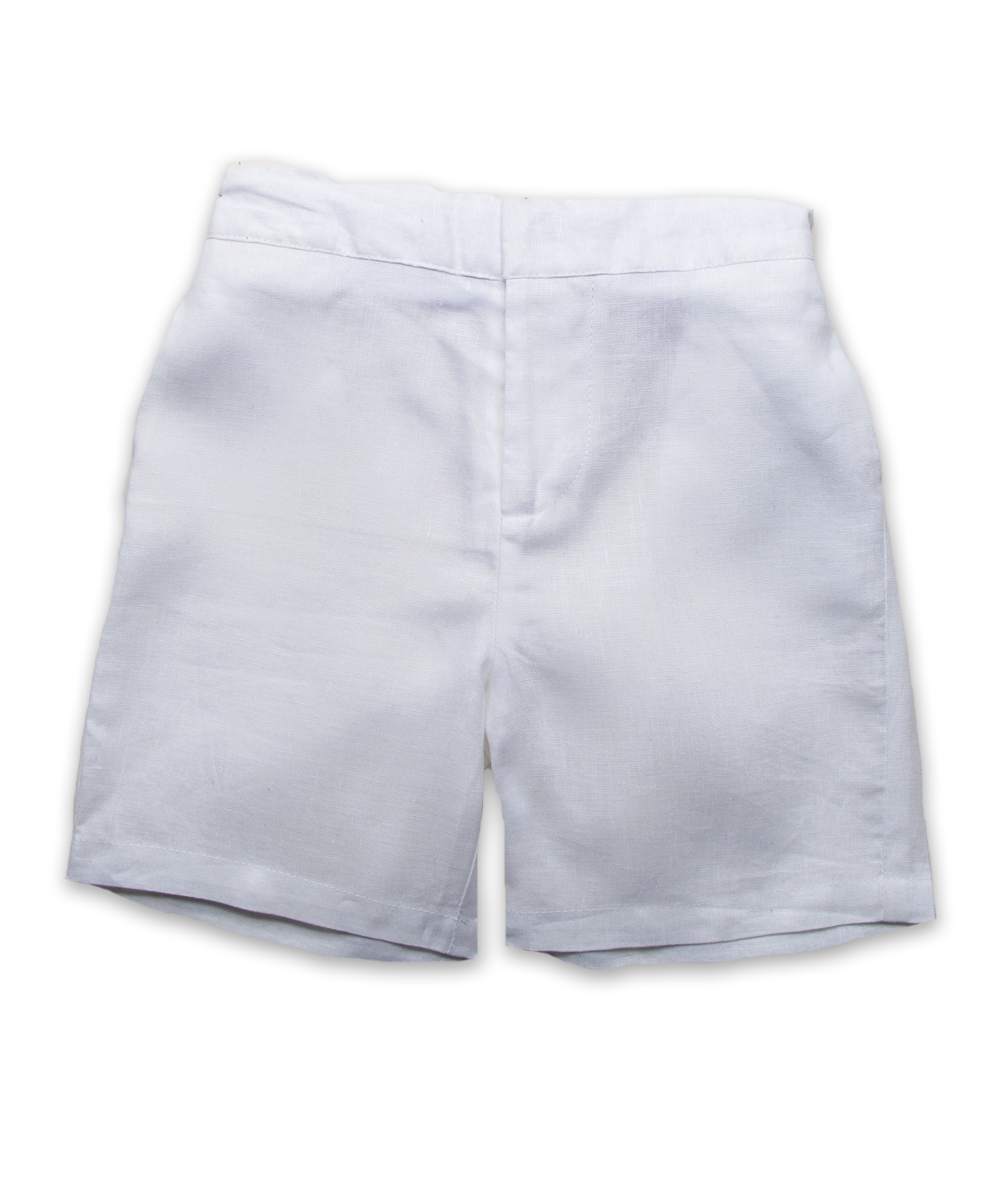 linen long short, white