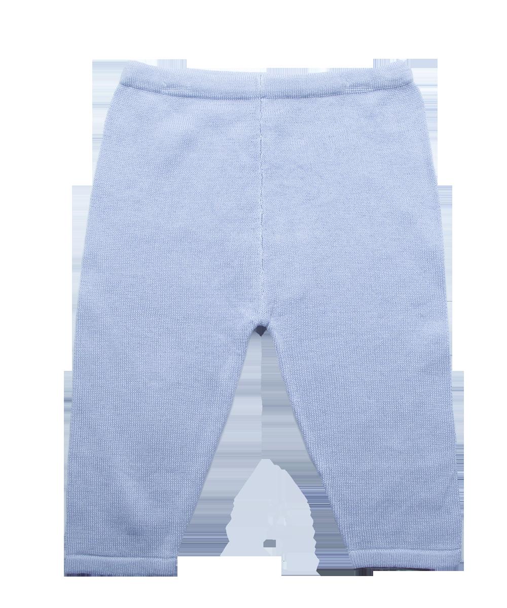 Luxury Cotton Knit Legging in Blue
