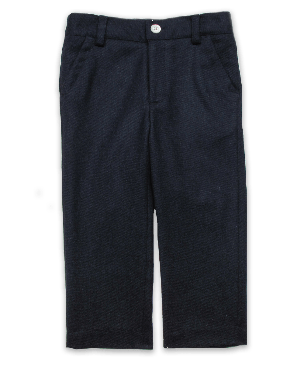 Slim Cut Tweed Pant in Navy