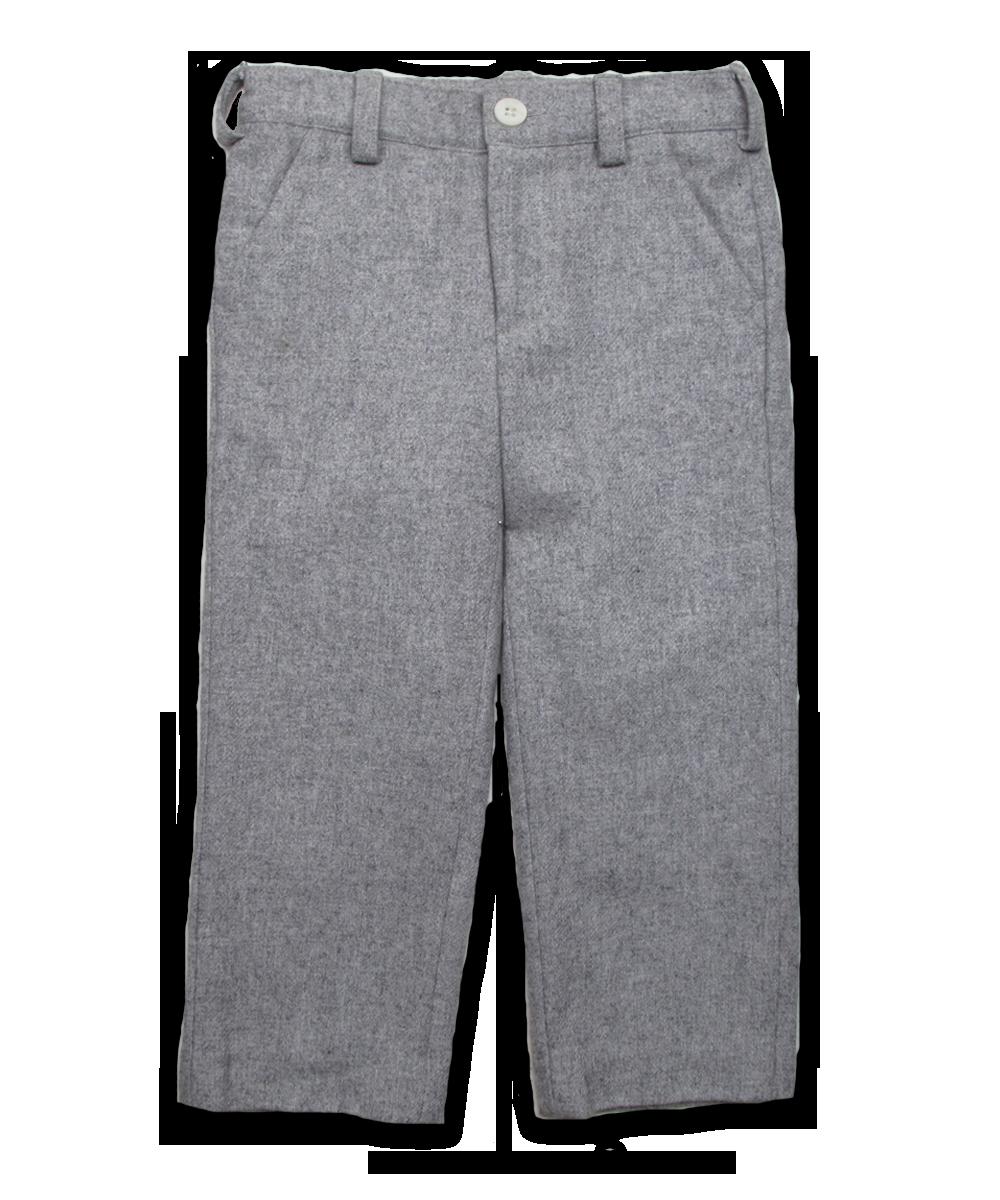 tweed pant, silver