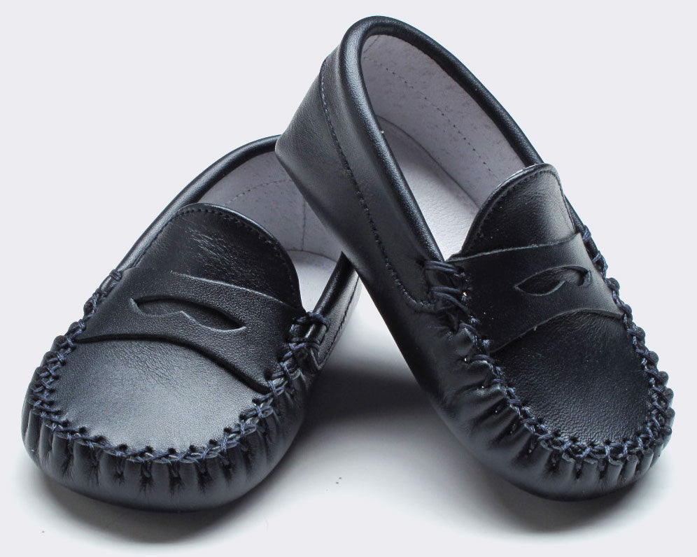 Boy's Leather Moccasin