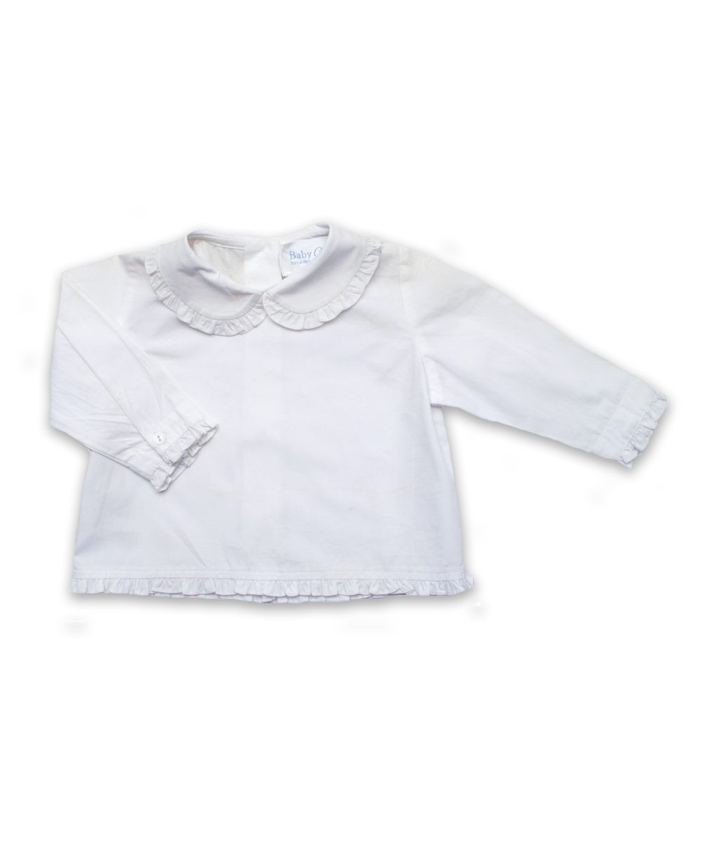 Ruffle Peter Pan blouse in White