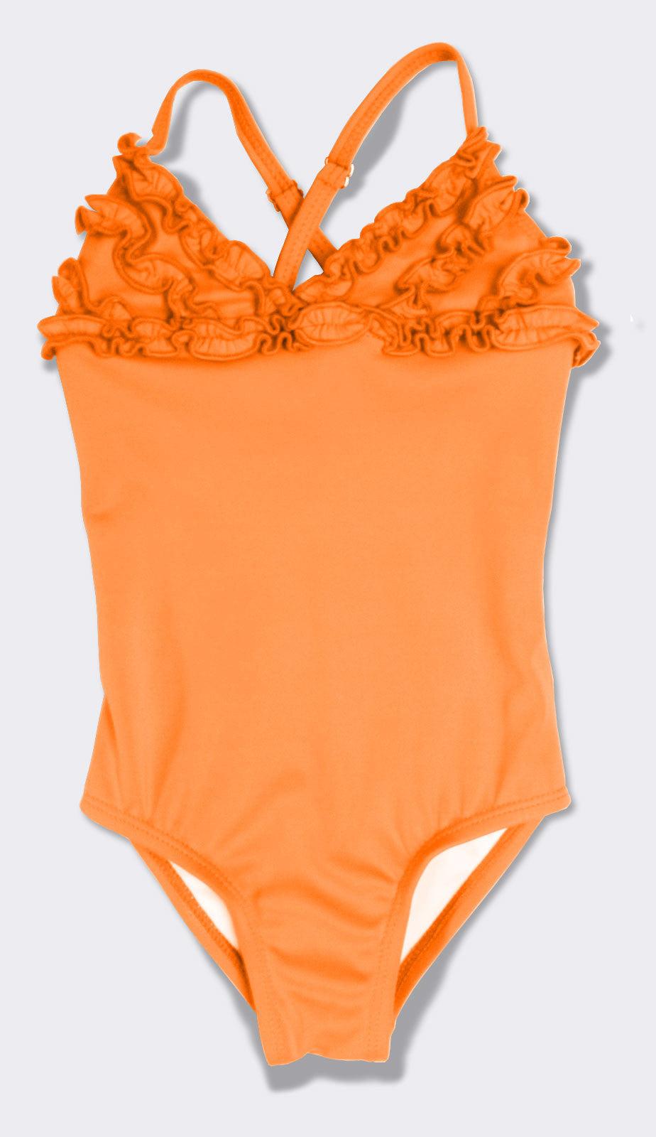 Gabrielle bathing suit in mandarin