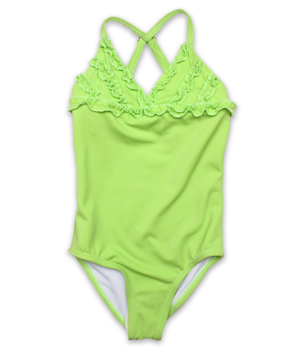 Gabrielle bathing suit in lime