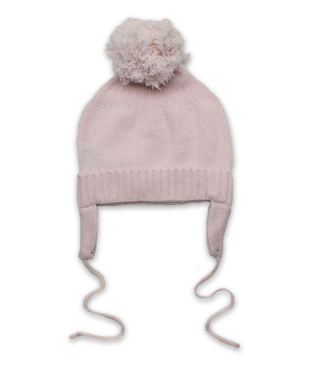 Cashmere Pom Hat in Pink