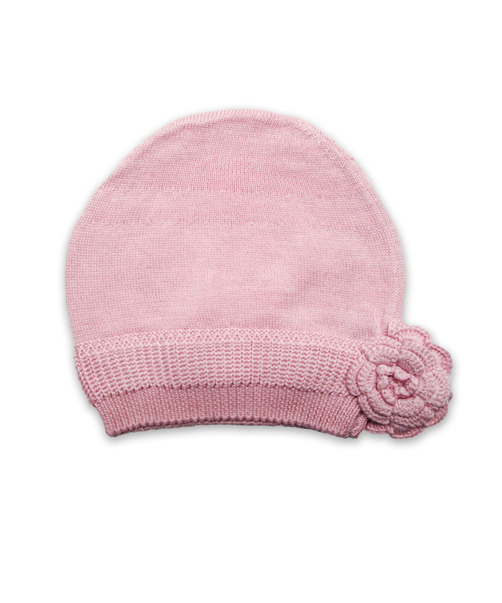 Cotton Flower Hat in Pink