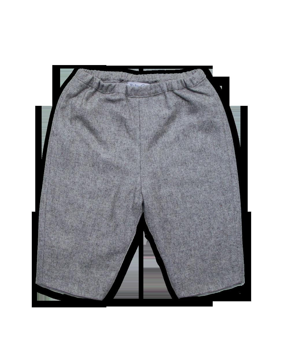 Baby Pant in Silver Tweed