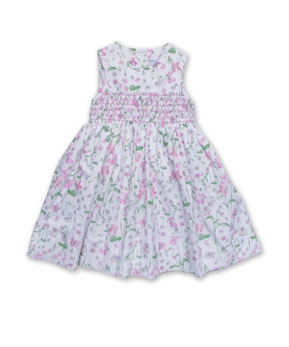 Camille Dress in Dainty Floral Pink