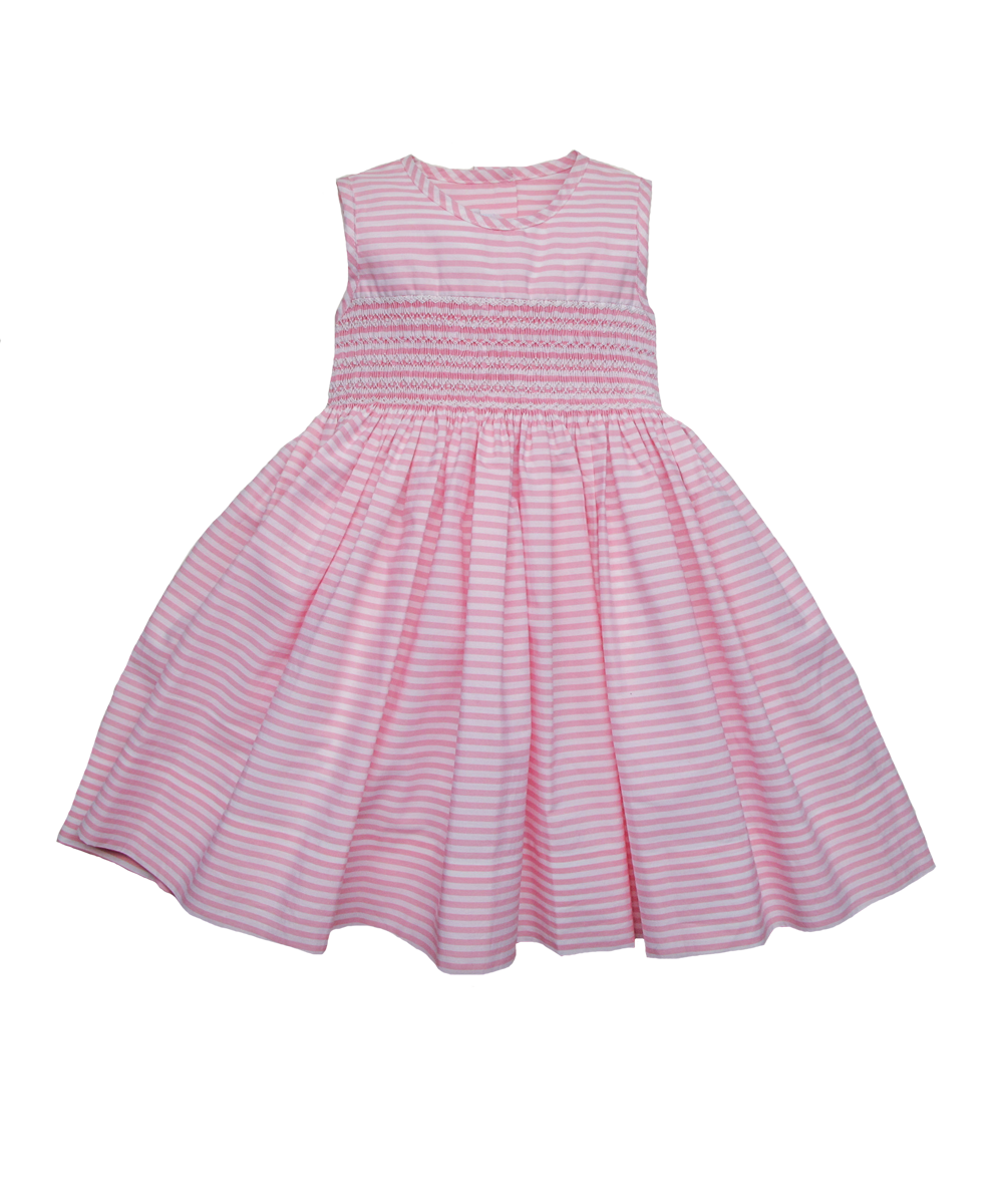 Camille Dress in Pink Stripe