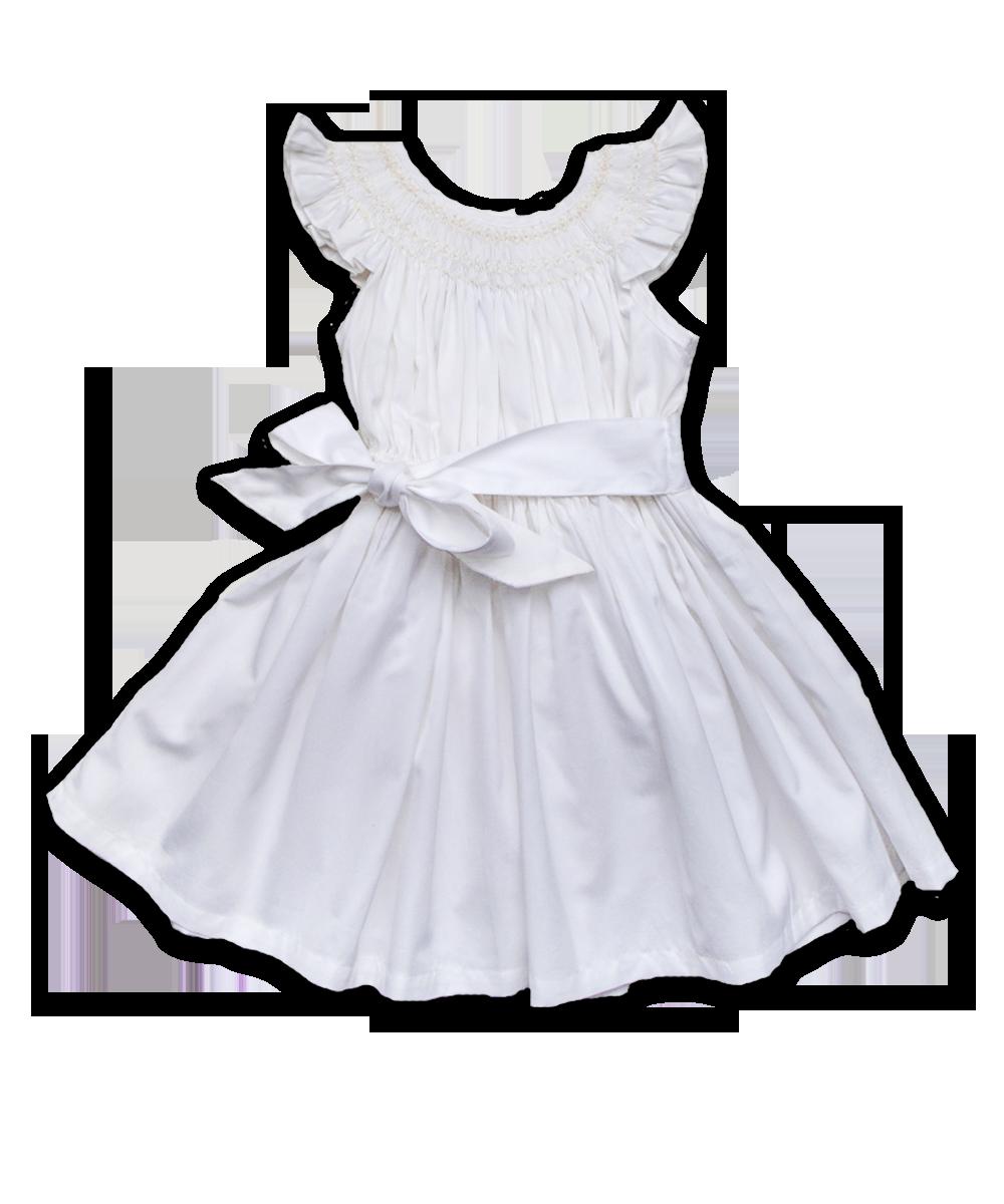 Lena Dress in White
