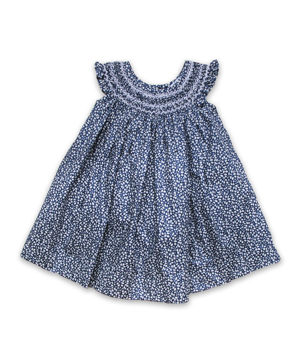 Evie Dress in Navy Ditsy Floral
