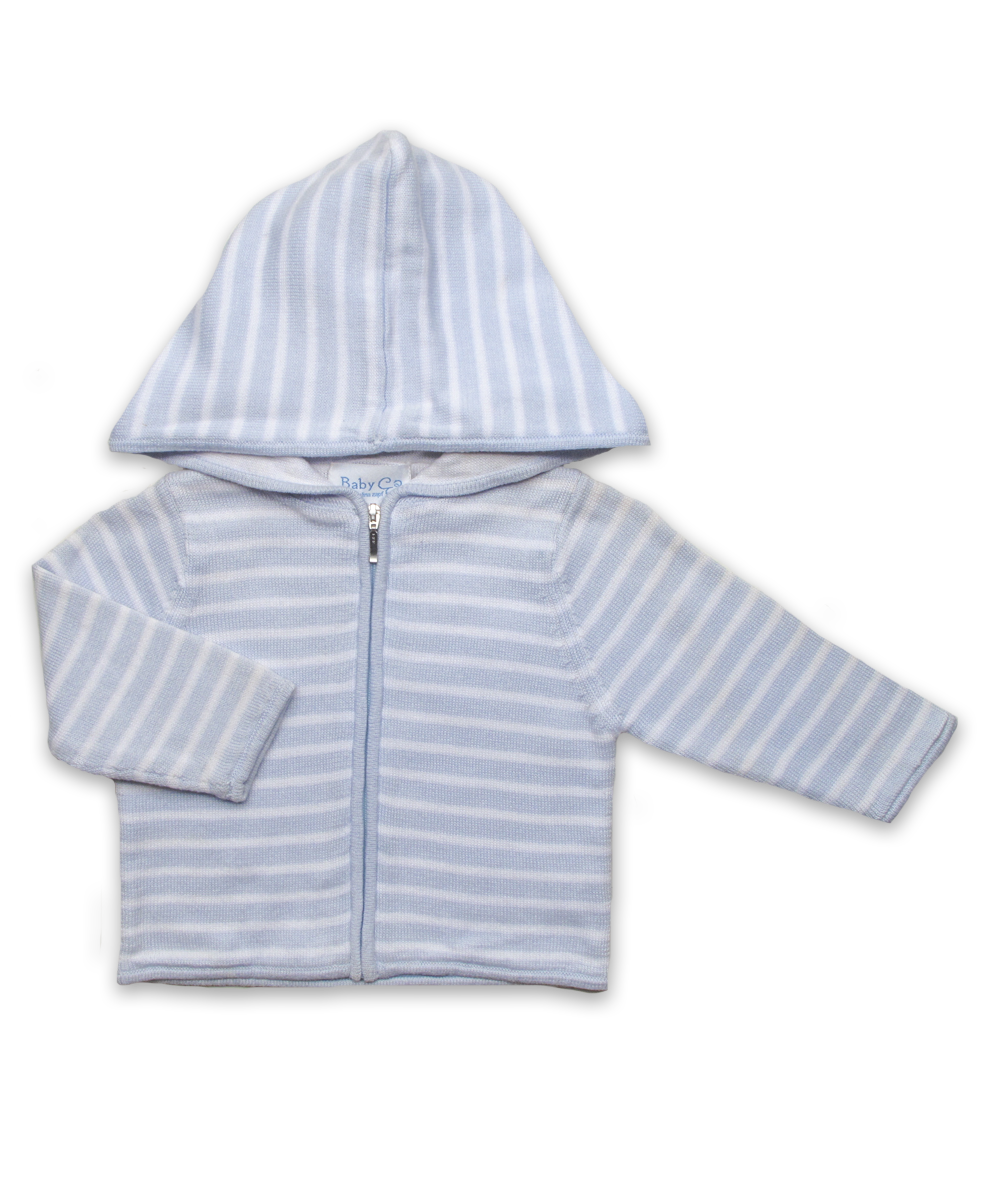 Striped Hoodie in Blue/White