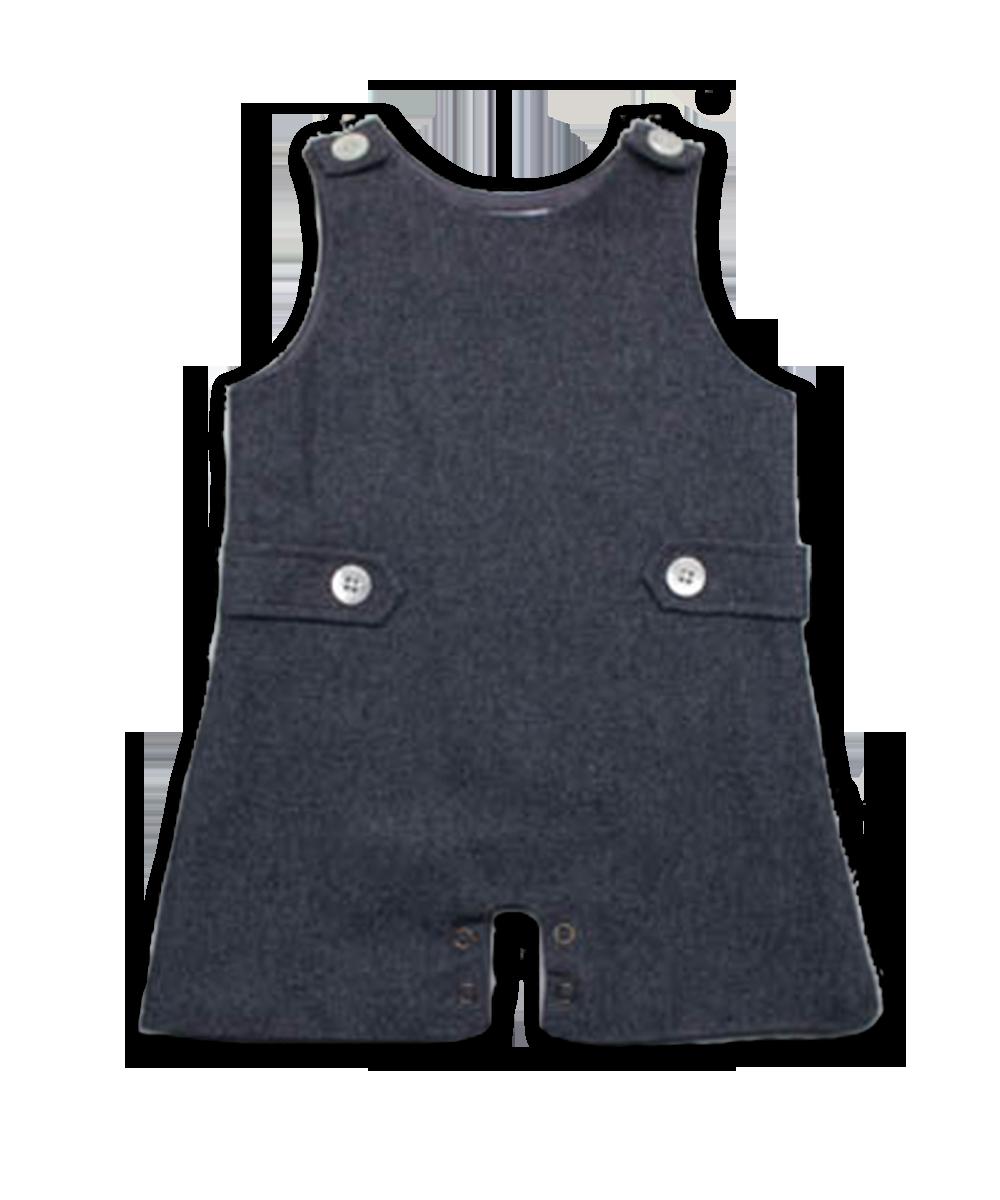 Baby Boy Tweed Jumper in Charcoal