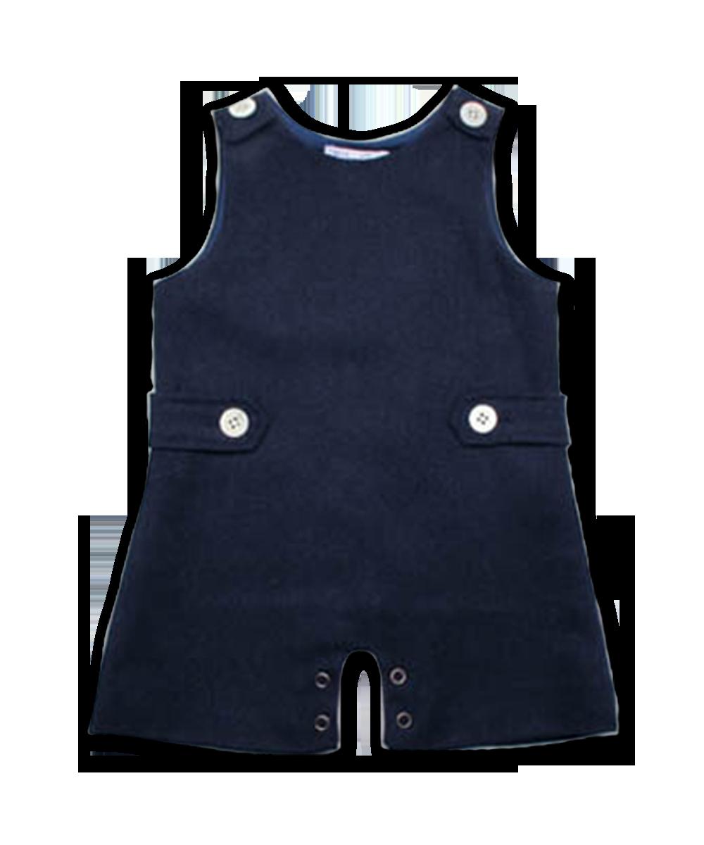 Baby Boy Tweed Jumper in Navy
