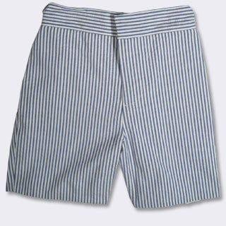 Cotton Short in Seersucker