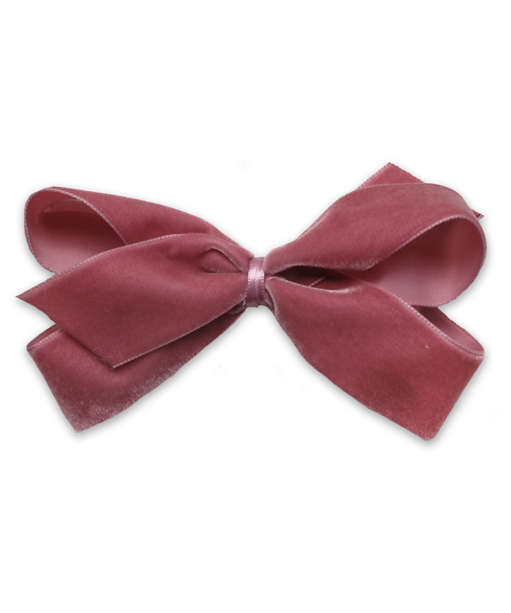 Large Velvet Bow in Rose