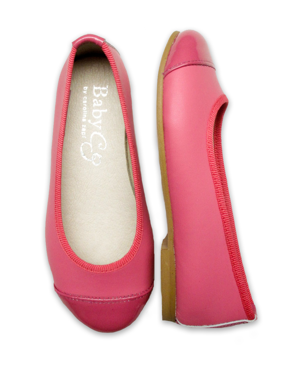 Girl's Mixed Ballet Flat in Magenta