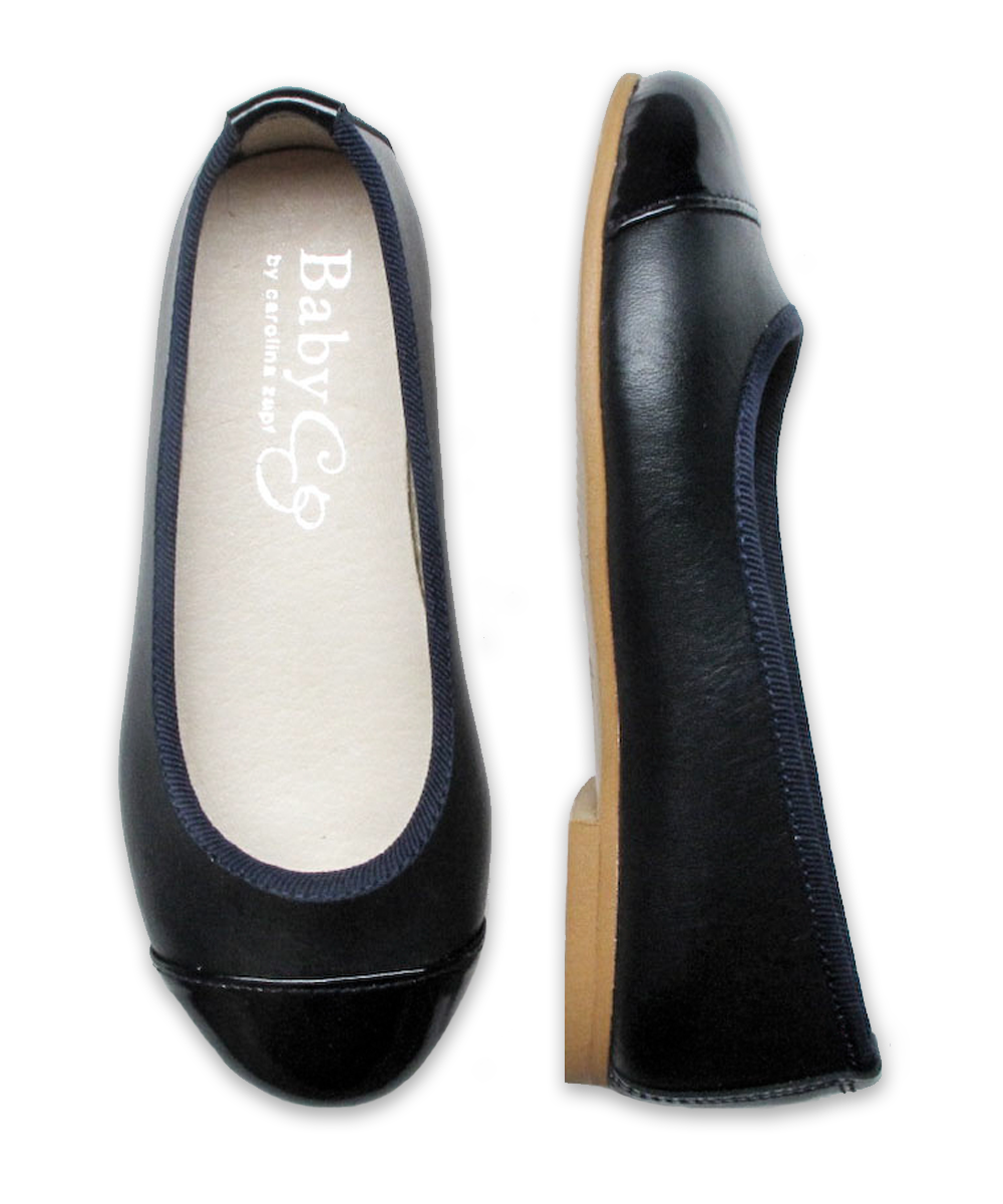 Girl's Mixed Ballet Flat in Navy