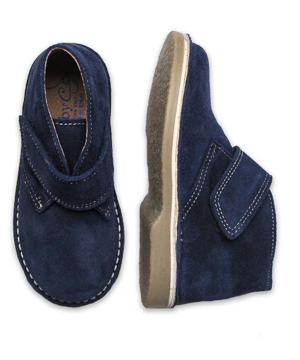 Boy's Suede Boot in Navy